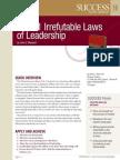 The 21 Irrefutable Laws of Leadershi - Success Magazine Book Summaries