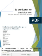 OPERACIONES de COMERCIO EXTERIOR Análisis de Productos No Tradicionales