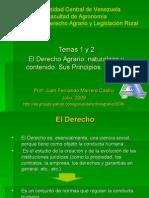 Temas 1 y 2 El Derecho Agrario y Sujetos
