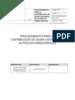 Procedimiento Para La Distribucion de Dosis Unitarias de Nutricion Parenterales