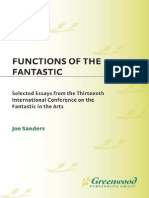 (Contributions to the Study of Science Fiction and Fantasy) Joseph L. Sanders-Functions of the Fantastic_ Selected Essays From the Thirteenth International Conference on the Fantastic in the Arts-Prae