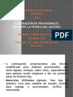 Galuth Duran Elaboración de Provisionales Mediante La Técnica Del Acetato
