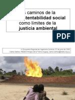 La Insustentabilidad Social Como Limite de La Justicia Ambiental