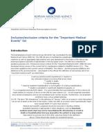 IME Criteria v18.0 Mar 2015