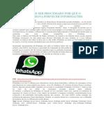 Whatsapp Pode Ser Processado Por Que o Usuário Pressiona Fornecer Informações