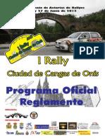Revista I Rally Ciudad de Cangas de Onís
