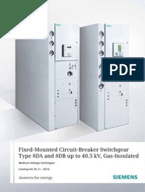 Siemens 8da10 Swg Catalogue | High Voltage | Power Engineering