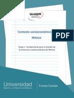 Etapa 1. Fundamentos Para El Estudio de La Estructura Socioeconomica de Mexico