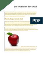 Manfaat Apel Untuk Diet Dan Untuk Kesehatan