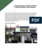 Rumah Dijual Di Gading Serpong, Tangerang Selatan, Rp. 2 Miliar an, Rumah Strategis, Cocok Investasi - www.rumahku.com