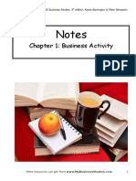 Chapter 1 the Purpose of Business Activity