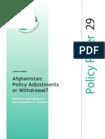 SEF Policy Paper Afghanistan Sept 2008 Engl