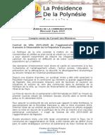 Compte Rendu Du Conseil Des Ministres - Mercredi 3 Juin 2015
