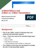 4-20mA Basics Ian Williams 05232011