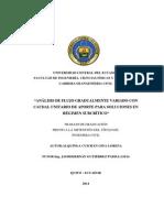 Análisis de Flujo Gradualmente Variado Con Caudal Unitario de Aporte Para Soluciones en Régimen Subcrítico