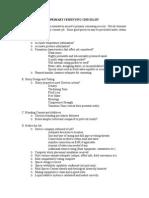 4c - Primary Cementing Checklist