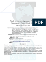 TiSA Transparency Negotiating Text