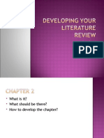 Meeting 6 Developing Your Literature Review