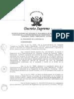 Decreto Supremo Que Aprueba El Reglamento de Organización y
