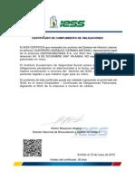 Certificado de Obligaciones Patronales Unionsoberana