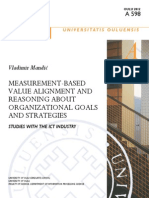 Measurement-based Value Alignment and Reasoning About Organizational Goals and Strategies