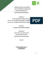 Informe No. 2 caracterización de materiales