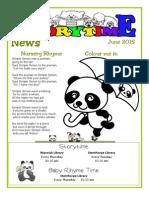 Storytime News June 2015