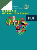 Le Droit à la la nationalité en Afrique
