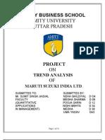 Trend Analysis in Maruti Suzki
