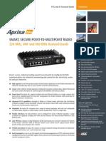 Aprisa SR+ Datasheet FCC IC English