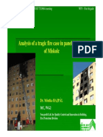 Analysis of a Tragic Fire Case in Panel Building Miskolc Hungary