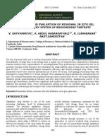 Formulation and Evaluation of Niosomal in Situ Gel