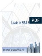 Loads in RISA-3D Webinar
