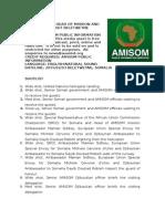 AMISOM HEAD OF MISSION AND EU PARTNERS  VISIT BELETWEYNE