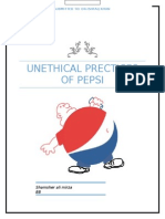 Unethical Prectices of Pepsi