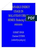 GS NOTES - Sustainable Energy Usage in M'Sian Urban Homes