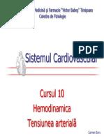 10. Hemodinamica. Tensiunea Arteriala