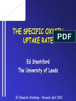 THE SPECIFIC OXYGEN UPTAKE RATE