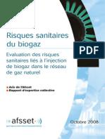 Afsset_Risques Sanitaires Injection Biogaz