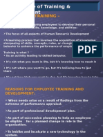 Traning and Development PPt