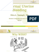 Abnormal Uterine Bleeding - Mitra Razzaghi