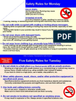 Five Sets of Basic Safety Rules