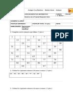Prueba de Diagnóstico Matemáticas