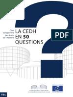 La Cour européenne des droits de l'homme en 50 questions