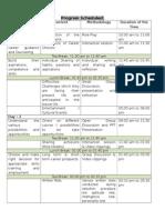 Program Scheduld