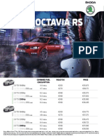 New Octavia Rs Price List 2015