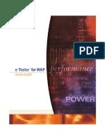 E-Tester for WAP User Guide