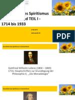 Geschichte Des Spiritismus in Deutschland 2015 TEIL I