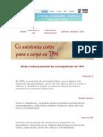 Nutrientes Para o Corpo Na TPM