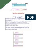 Receitas Tabela de Calorias